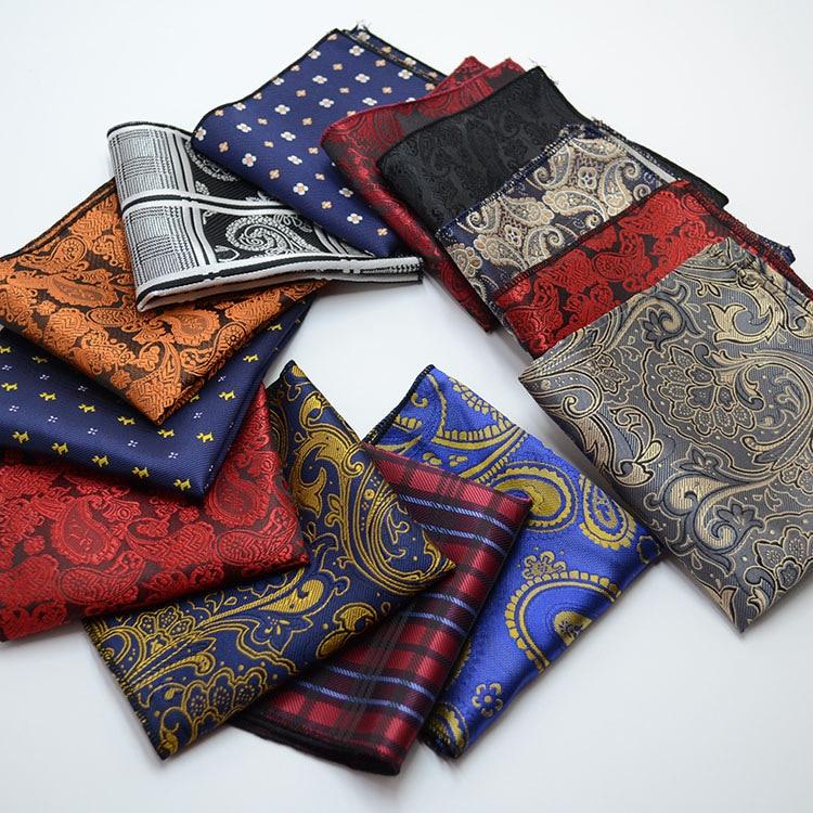 22*22cm Men's Business Suits Pocket Square Handkerchiefs For Wedding Fashion Plaid Hankies Mens Pocket Towel Christmas Gift