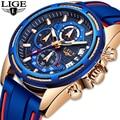 LIGE  мужские часы  Лидирующий бренд  роскошные часы с силиконовым ремешком  мужские Бизнес Кварцевые часы  мужские военные спортивные часы  ...