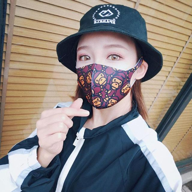 Painted Cotton Mouth Mask Anti Dust Fog Washable Breathable Personalized Mouth-Muffle Bacteria Proof Flu Face Masks For Riding 5