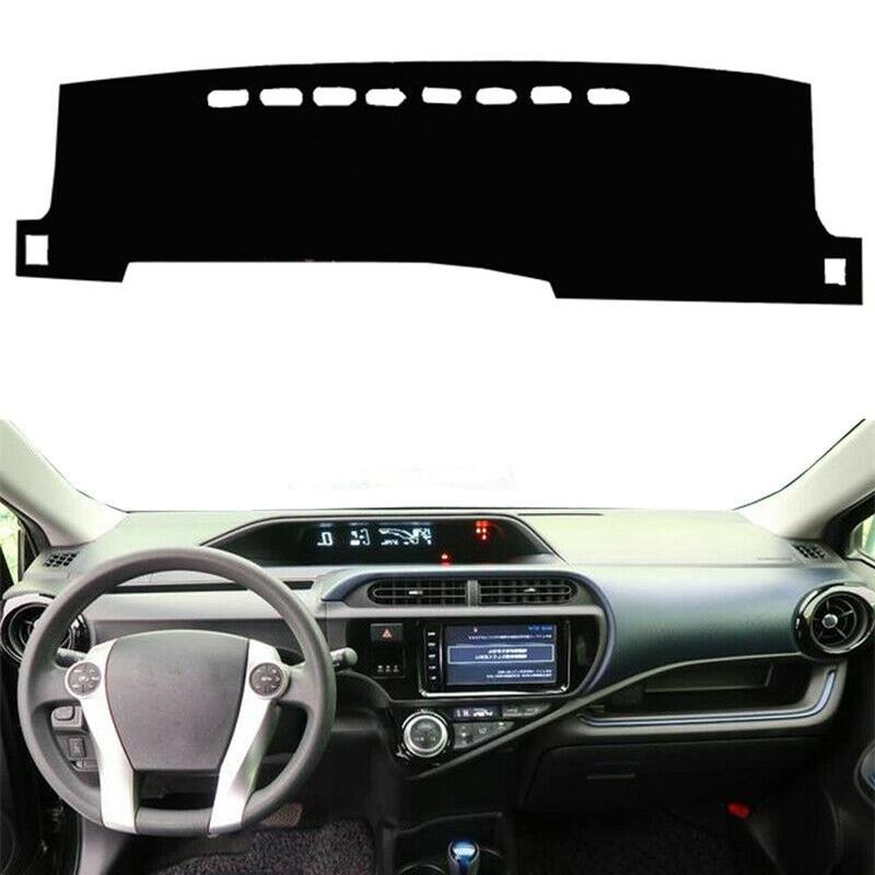 Autoly Black Car Dash Sun Cover Dashboard Mat Carpet Pad Fit for Toyota Prius 2012-2015