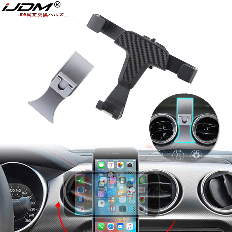 iJDM Car Mobile Phone GPS Holder Bracket Auto Mount Stand Interior Accessories For 2015-2019 Ford Mustang Clubman Car Styling