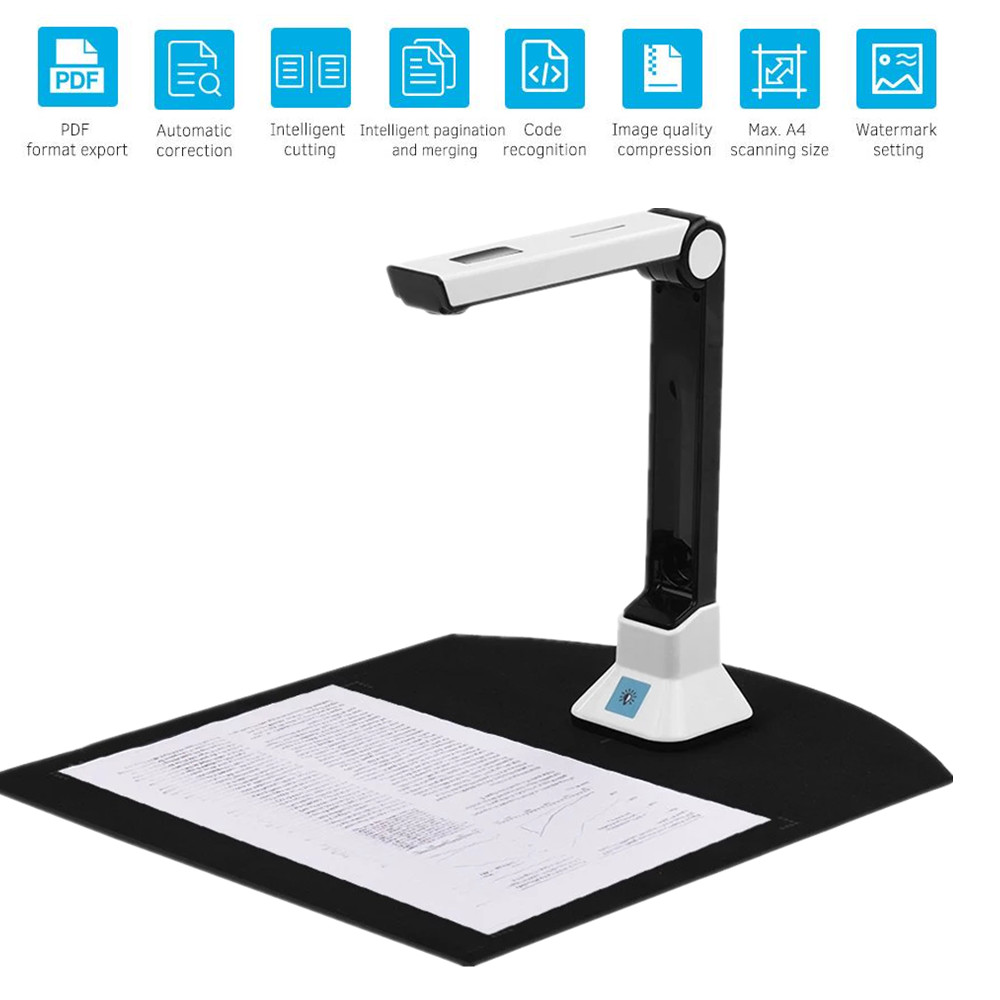 Portable Document scanner a4 10 Mega pixel book scanner documents camera support A3 A4 Auto Focus Camera HD High Speed Scanner