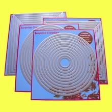 Juego de 4 troqueles de corte grande, Piercing rectangular, círculo cuadrado, ovalado, álbum de recortes artesanal, plantilla DIY