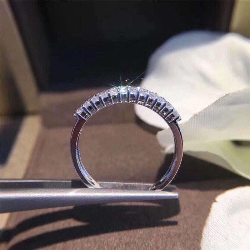 Choucong éternité promesse anneau pavé AAAAA cz pierre 925 en argent Sterling fiançailles bague de mariage anneaux pour femmes hommes bijoux de fête - 3