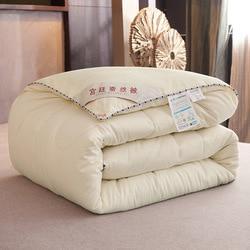 Шелковое Одеяло/одеяло для лета и зимы, постельное белье king queen, двойной размер, ручная работа, белый/розовый/серый/зеленый/оранжевый, чистый ...