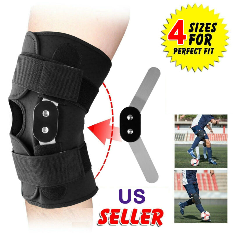 1Pc Adjustable Sports Knee Support Hinged Knee Patella Joint Support Brace Sleeve Wrap Cap Stabilizer