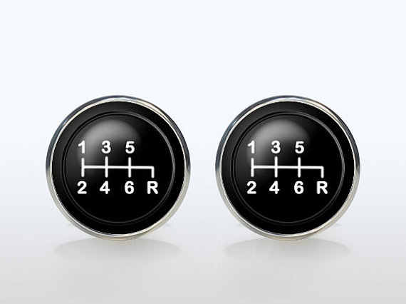 Hight Quality Gear Stick Cufflinks Silver Plated Cars Transmission Retro Cuff  Mens Wedding Event Accessories Shift Gift
