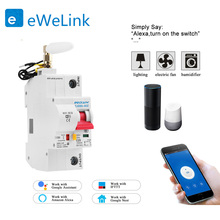 eWelink app 1P WiFi Smart Circuit Breaker overload short circuit protection with  Alexa google home for Smart Home
