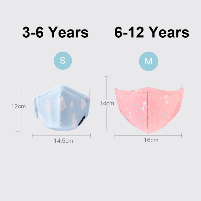 PM2.5 Boy Girl Cotton Kid Smoke Mask Children's Mouth Mask Face Mask Pollution Mask Filter Mask 2