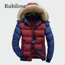 Rubilove Winter Mens Thick Coats Warm Male Jackets Padded Casual Hooded  Parka New Men Overcoats Brand Clothing M-4XL