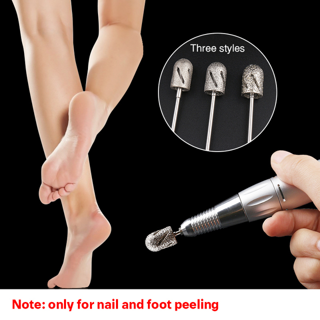 3 Size Nail Accessories And Tools Manicure And Pedicure Drill Lathe Nail Drills Bits For Foot Care Tool Callus Clean Cuticle 2