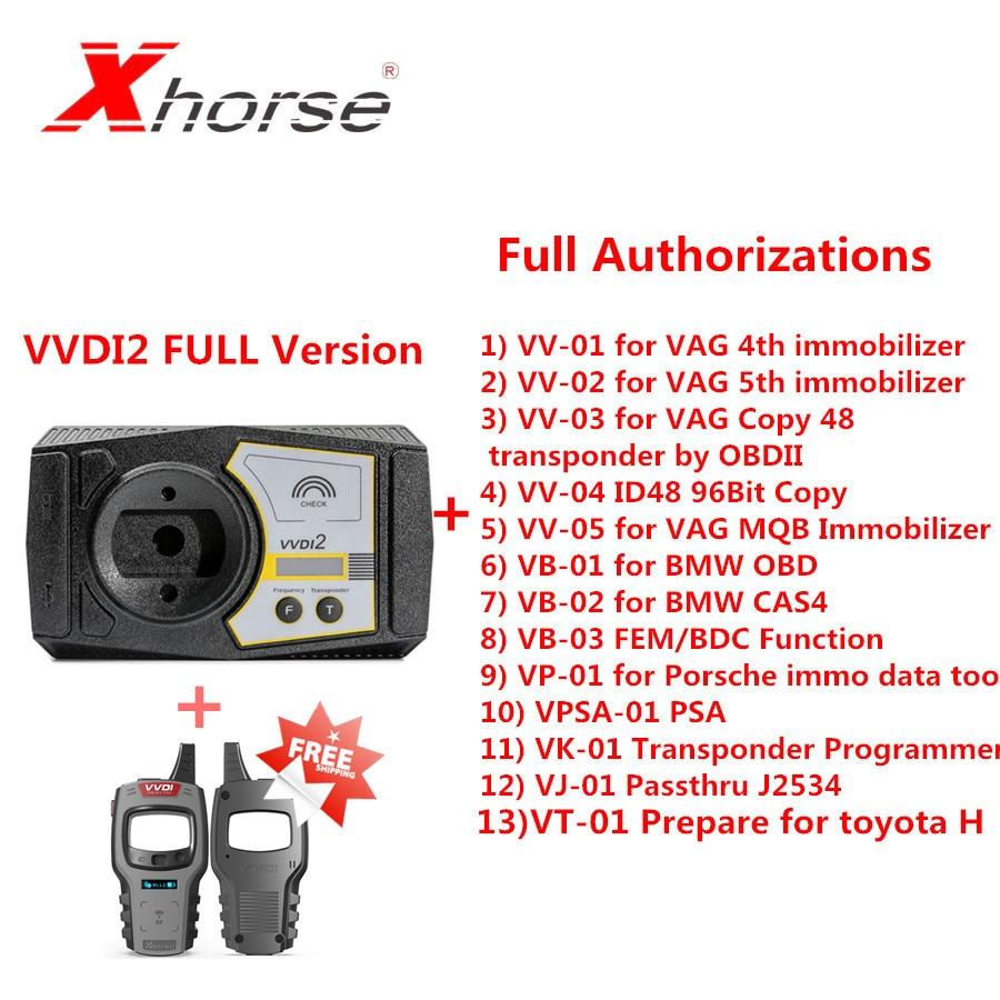 Original Xhorse V6.7.0 VVDI2 Full Kit With 13 Kinds Full Authorizations Send VVDI Mini Key Tool As A Gift