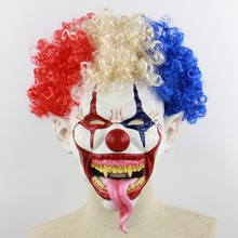 Joker Clown Costume Mask Creepy Evil Scary Halloween Adult Ghost Festival Party Supplies Decoration