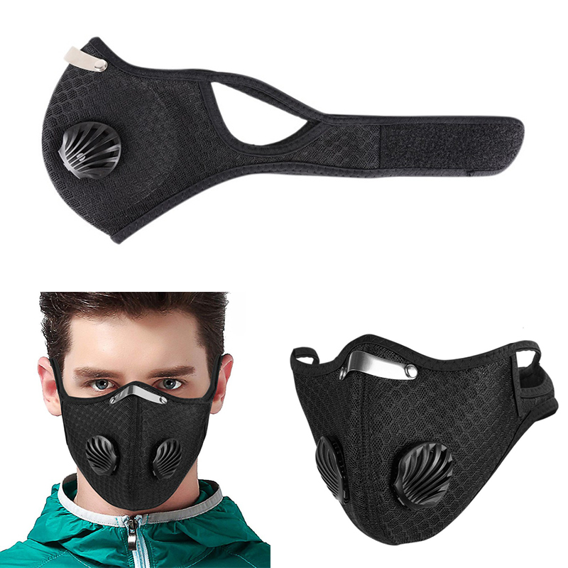 Outdoor 1pcs Reuseable Face Masks Face Mask Washable Elasticity Breathable Mesh Cover Cycling Mask