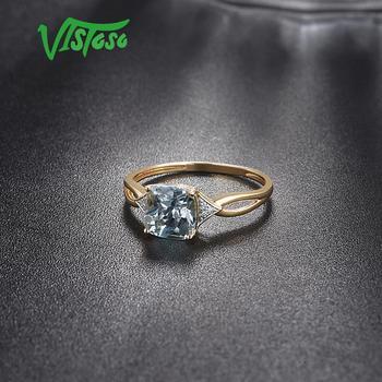 585 Yellow Gold Blue Topaz Ring 4