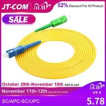 SC/APC SC/UPC Simplex 2.0mm 3.0mm PVC Fiber Optic Jumper Cable Single Mode Extension Patch Cord 3m, 5m, 10m,20m,30m