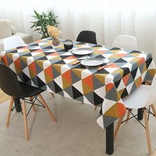 Decorative Rectangular Tablecloth Cotton Linen Child Tablecloths Dining Mantel Nappe Tea Coffee Table Cover Obru Mesa