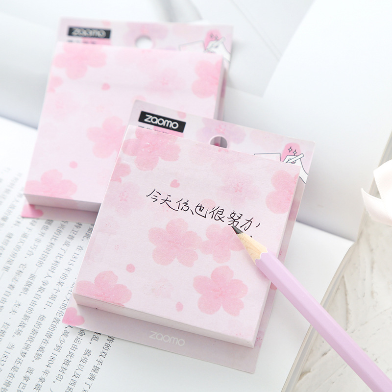Sweet Pink Spring Season Sakura Memo Pad N Times Sticky Notes Planner Sticker To Do List Gift Stationery