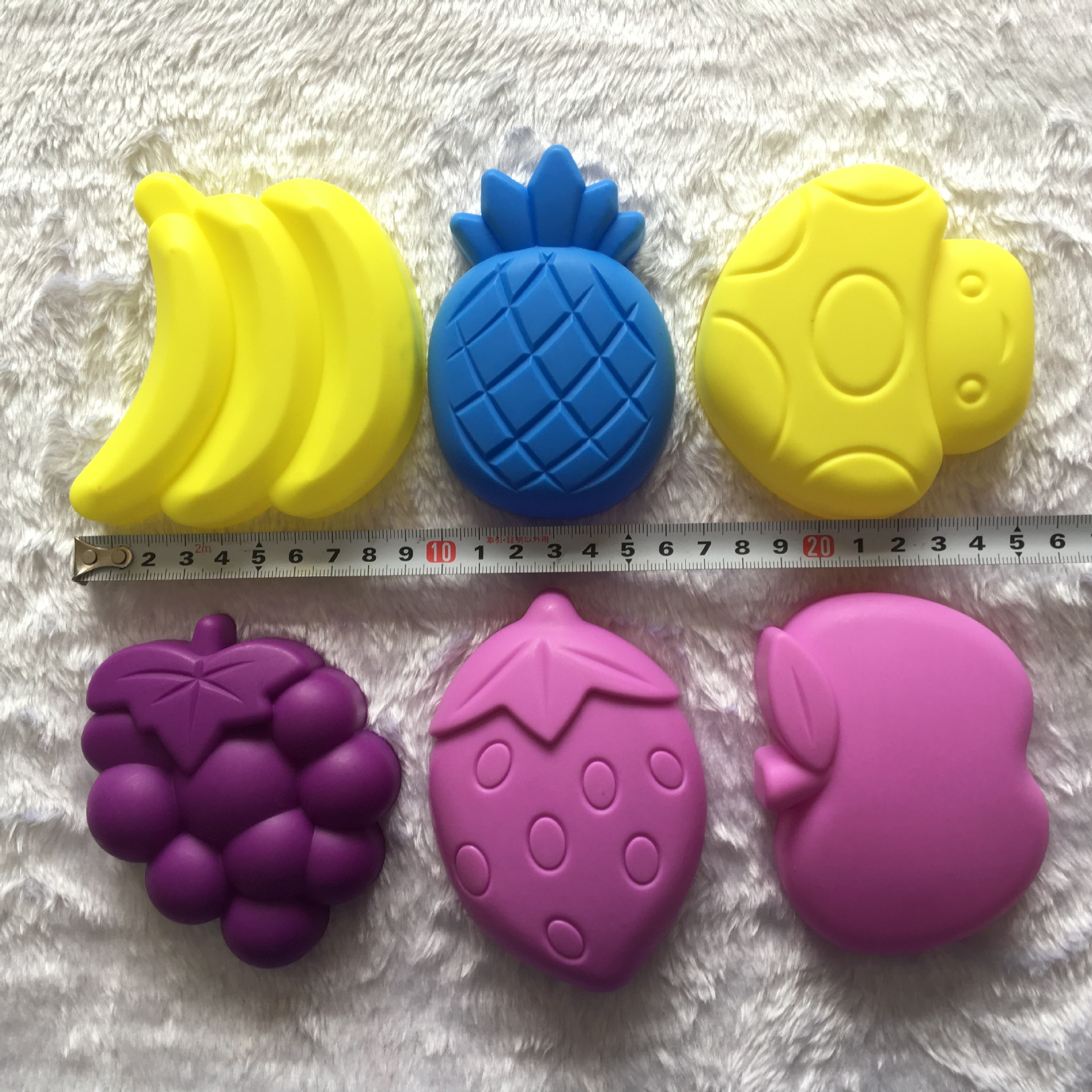 6pcs Child Kid Model Building Kits Portable Fruit Sand Clay Mold Building