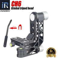 INNOREL CH6 Gimbal Panoramic Tripod Head with Quich Release Plate for Telescope 360°Rotation High Precision CNC,Max Load 25KG