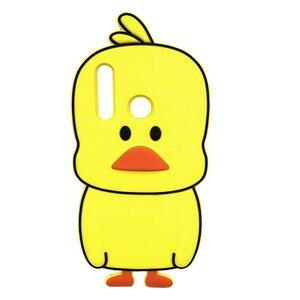 Cute 3D Yellow Duck Case For Huawei Honor 20i 10i 10 Lite 8A 8X 7C AUM L41 Nova 3 3i P Smart Plus Y9 2019 Cartoon Silicone Cover(China)