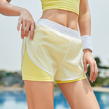 Summer Running Shorts Women 2 In 1 Quick Dry Gym Loose Sport Breathable Yoga