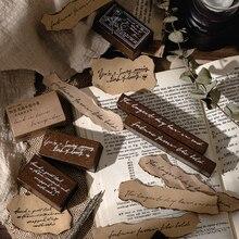 Yoofun 1 Pc/Design Back in Time Series Vintage Wooden Rubber Stamp DIY Scrapbooking Decoration Journaling Collage Stationery