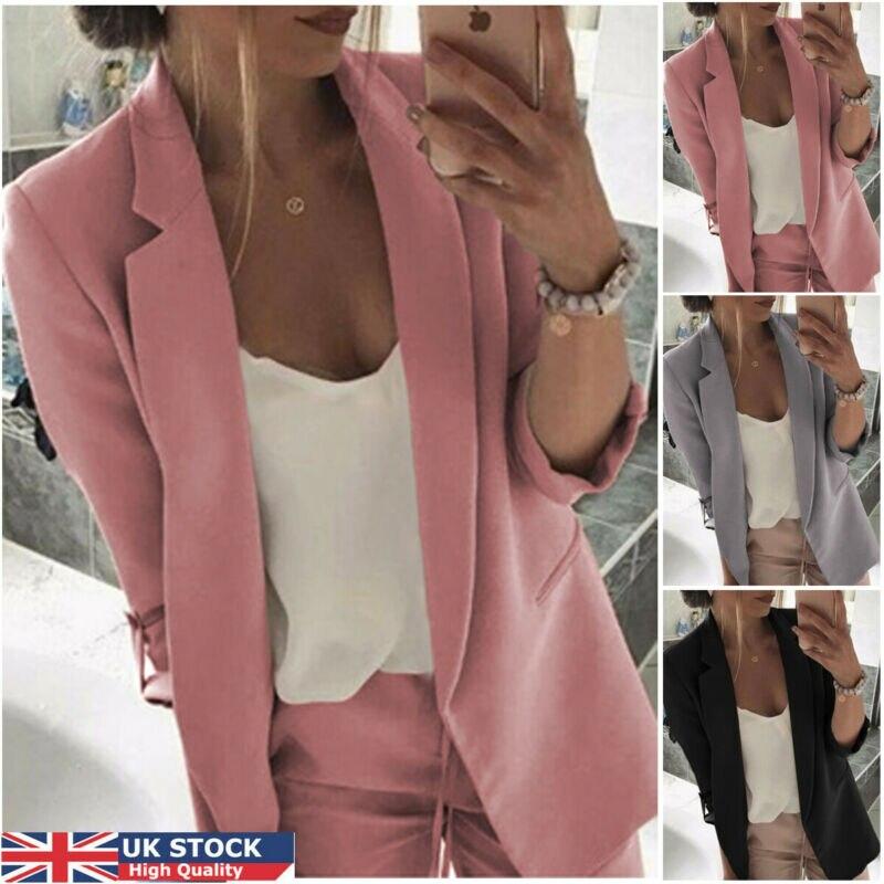 2020 Fashion Women Formal Suit Spring Autumn Lady Long Sleeve Slim Blazer Suit Coat Work Jacket Tops  Clothes Plus Size M-3XL