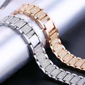 Image 2 - YOOSIDE Fenix 6S מהיר Fit נשים צמיד 20mm קריסטל בלינג סגסוגת מתכת להקת שעון רצועת עבור Garmin Fenix 5S/5S בתוספת