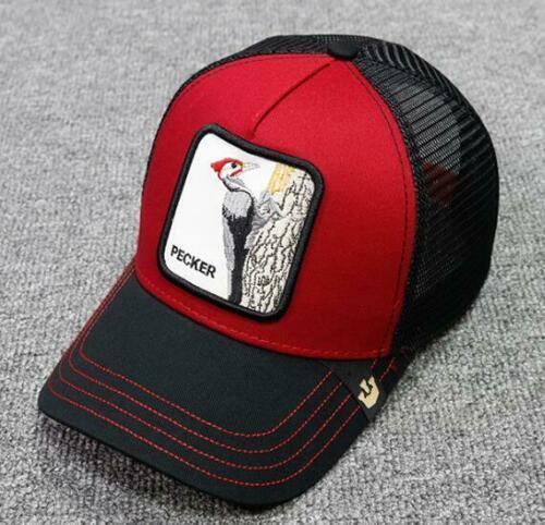 new Goorin Summer trucker cap mesh snapback hip hop hats for men embroidery baseball caps RECKER-Black red