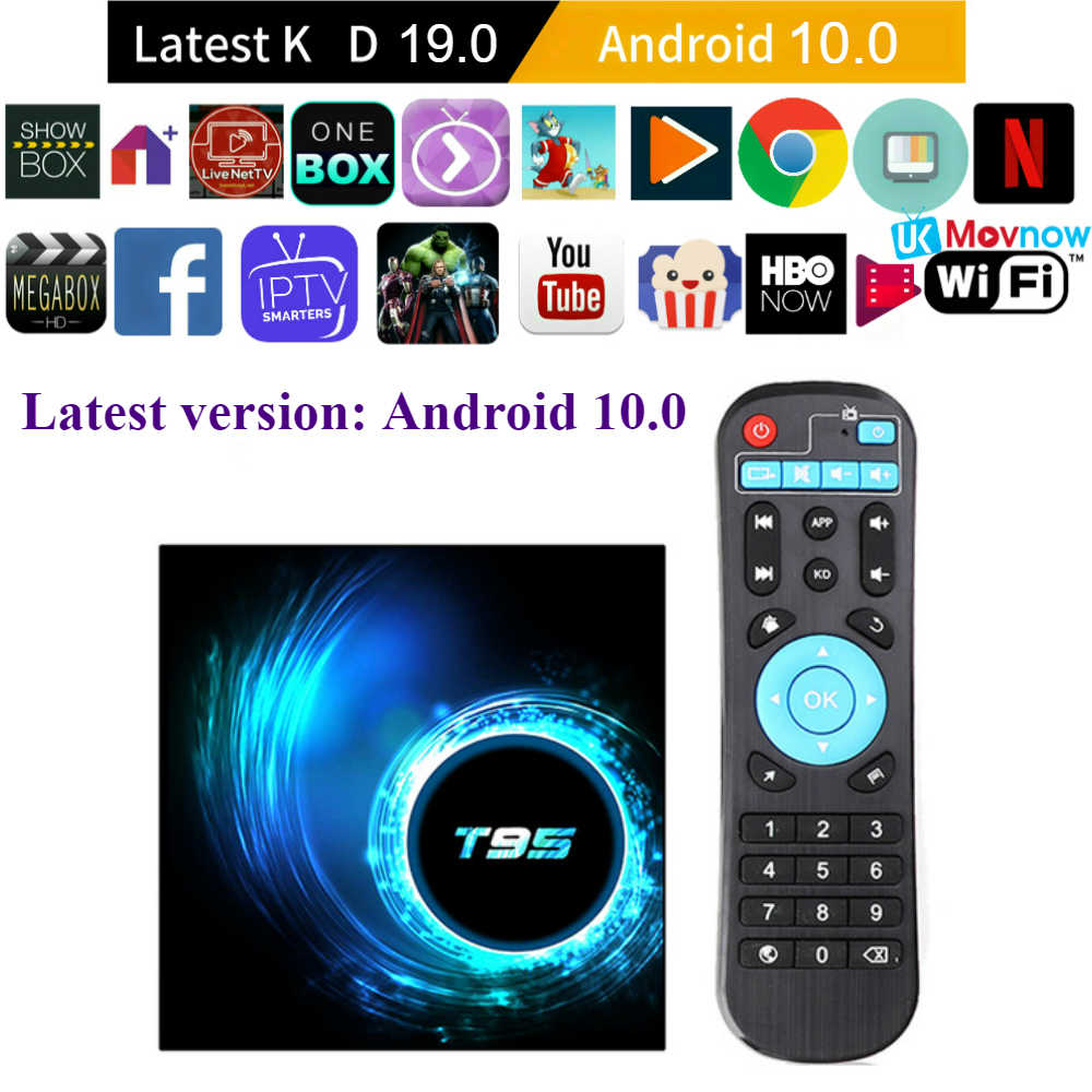TTVBOX T95 Android TV Box Android 10.0 OS 4GB 32GB 64GB Quad Core 1080P H.265 6K YouTube Media player 2GB 16GB Set top box