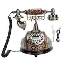 Telefono Vintage retrò telefono fisso con filo fisso telefono fisso vecchio telefono Vintage con ID chiamante per uso domestico in Hotel