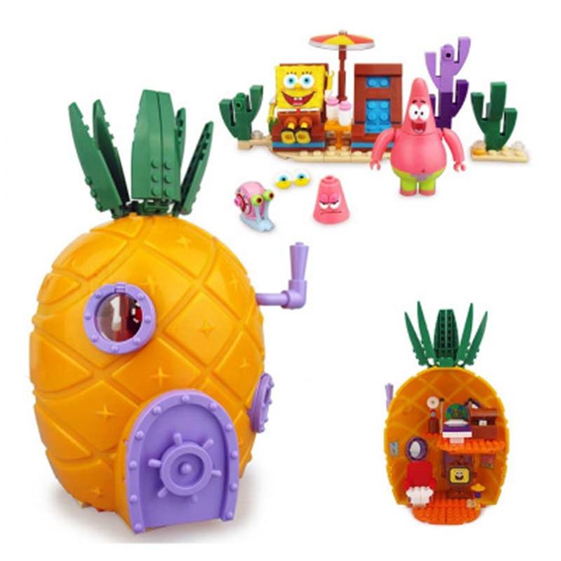 Nuevo Bob Esponja música juguetes Casa de piña amigos Bob Esponja Patricio Squidward bloques de construcción juguetes para niños regalo de cumpleaños Bloques de construcción para niños pequeños brillantes 50 Uds. Bloques grandes para bebés juguetes educativos grandes para niños EVA juego de simulación juguetes de espuma