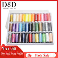 39 Spools Sewing Thread Set Gold/Polyester Threads for Sewing Embroidery Machine Thread Box for Needlework Sewing Supplies
