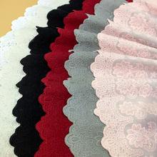 22cm 2 jarda/lote branco/bege bordado algodão rendas pano rural vestuário macio mobiliário doméstico tecido de algodão guarnições x818