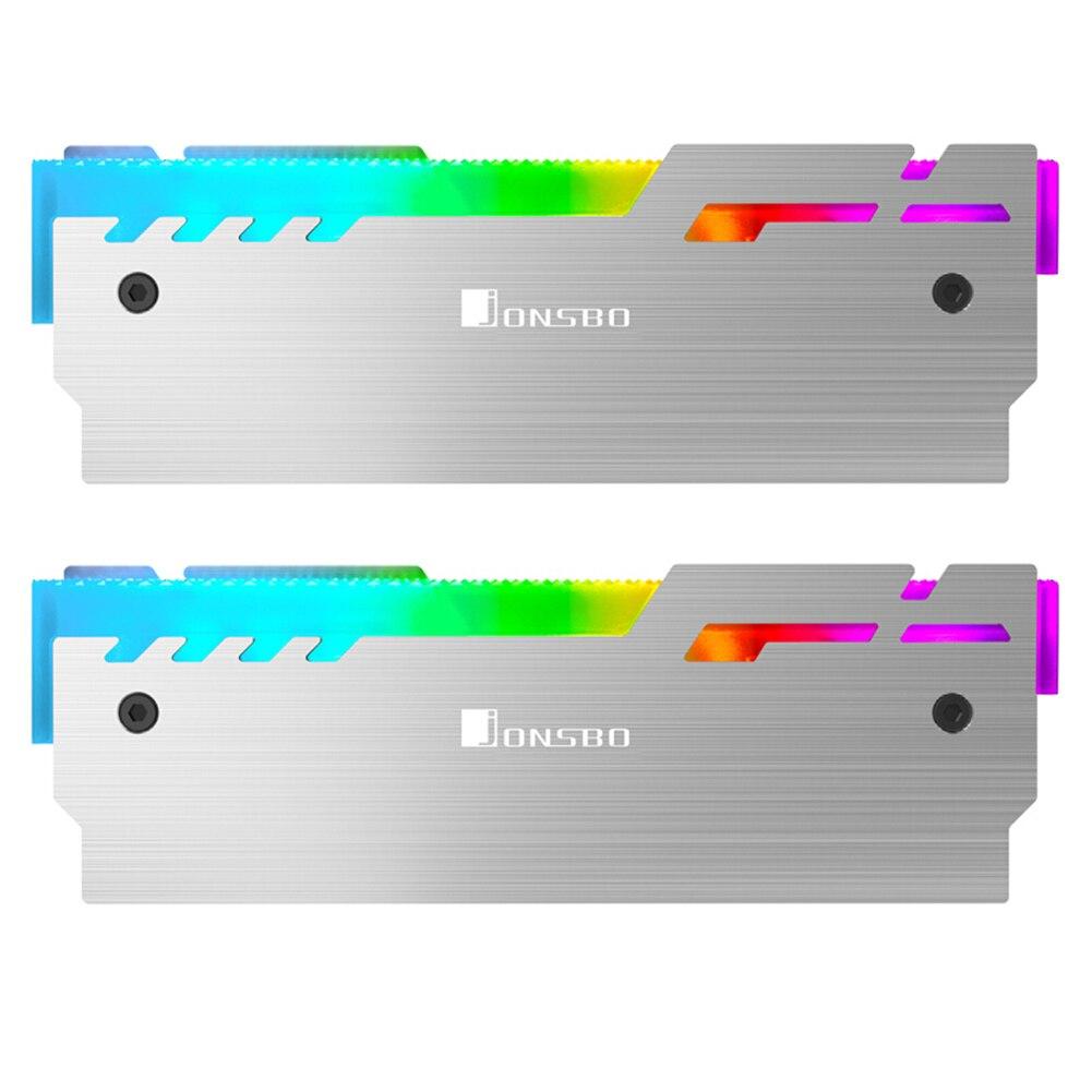 JONSBO NC-3 2pcs RAM Heatsink Radiator Cooler A-RGB Memory Heat Dissipation Cooler 5V 3Pin Interface + 7Pin Interface Heatsinks