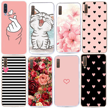 Flower Case For Coque Samsung Galaxy J5 A5 2017 A520 A7 A8 Plus 2018 S7 Edge S8 S9 Plus Note 9 Soft Silicone Phone Cover image