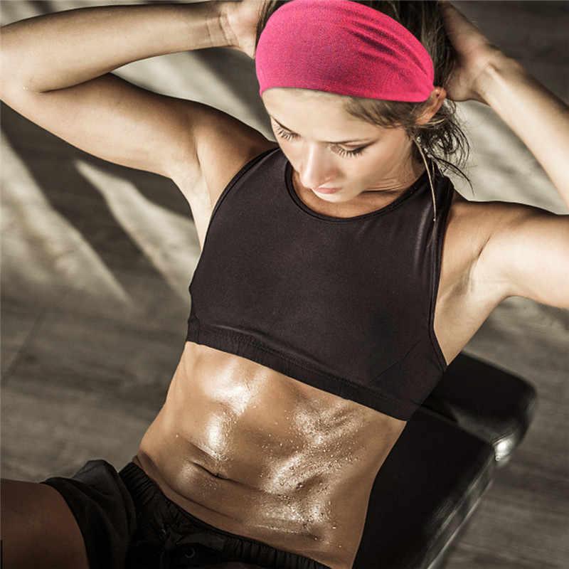Deporte diadema Fitness Yoga Banda ancha elástica gimnasio correr al aire libre tenis baloncesto bandas de pelo ancho Atlético hombres mujeres