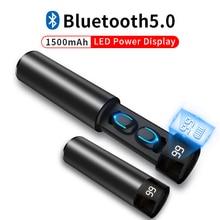 Tws Draadloze Oordopjes 3D Stereo Mini Bluetooth Oortelefoon 5.0 Met Dual Mic Sport Waterdichte Oordopjes Auto Pairing Headset