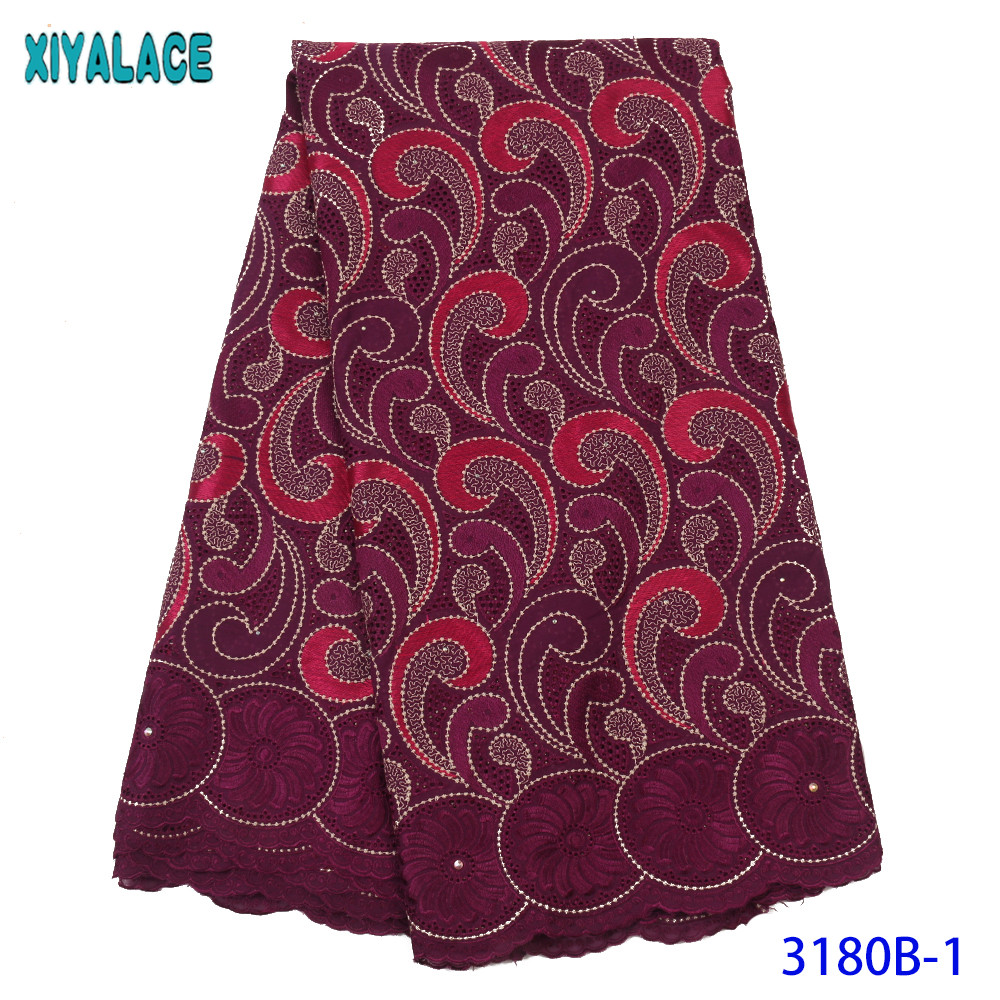 Hot Sale African Lace Fabric High Quality Swiss Voile Lace In Switzerland Nigerian Embroidery Lace Fabric For Women KS3180B