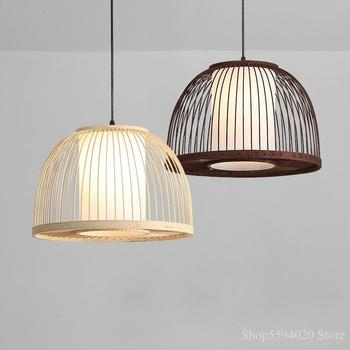New Chinese style bamboo chandelier lights weaving lamp restaurant bar bamboo lamp Zen weaving home decor hanging light fixturs