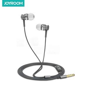 Image 2 - Проводные Наушники Joyroom, наушники вкладыши 3,5 мм, спортивные наушники для телефона, стерео, бас, звук, металлический микрофон для Xiaomi, Samsung