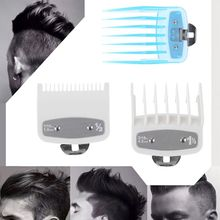 8/10Pcs Barber Shop Styling Guide Comb Set Transparent Hair Clipper Limit Comb