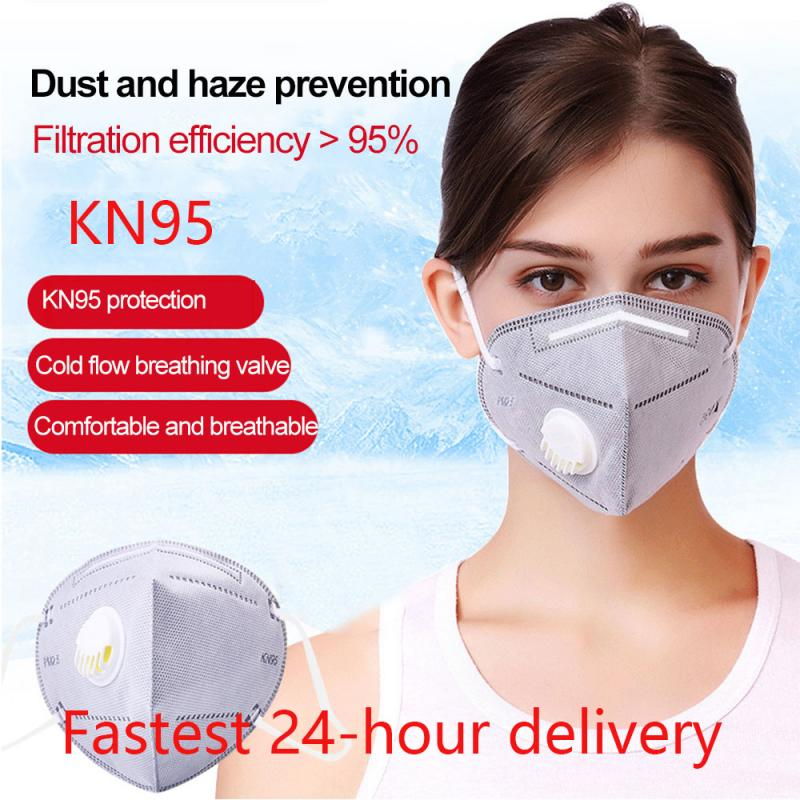 KN95 Mask Respirator Anti Dust Fog Pollution PM2.5 Filter Face Mask Cotton Proteccion Reusable N95 Mask PK Ffp3 KF94 Fpp3 Masks