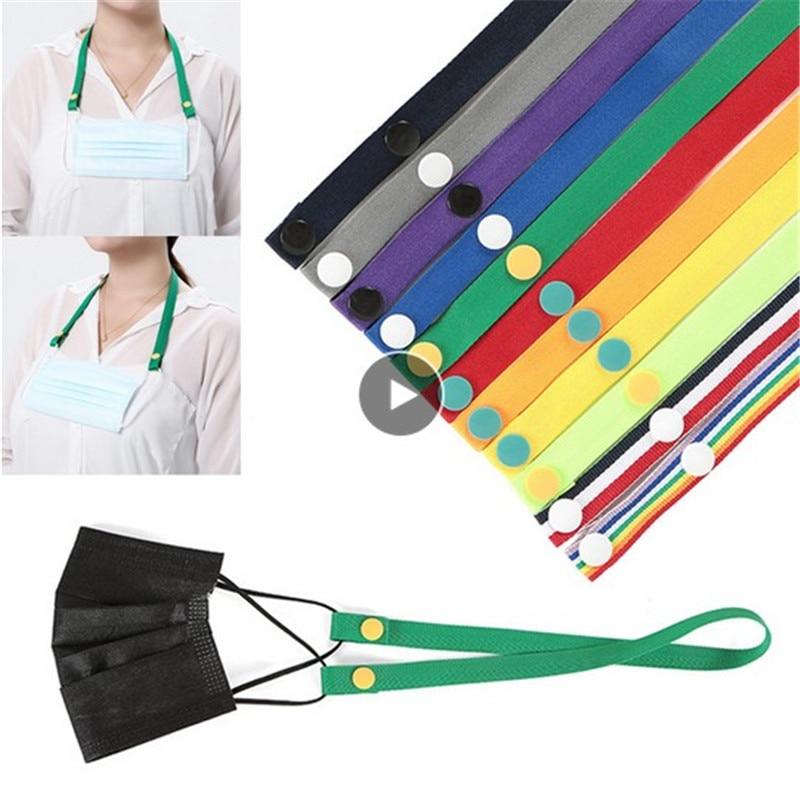 Mask Lanyard Adjustable Mask Hanging Rope Mask Holder Convenient Safety Mask Rest Ear Holder Rope Hang On Neck String Dropship(China)