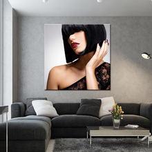 Красота салон фотографии 1 шт красивая девушка волосы холст