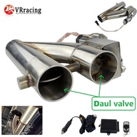 "VR  Universal Stainless Steel 304 2.5"" or 3"" Electric Exhaust Downpipe Cutout E Cut Out Dual Valve Remote Wireless VR EMP86/87