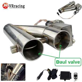 """VR- Universal Stainless Steel 304 2.5\"""" or 3\"""" Electric Exhaust Downpipe Cutout E-Cut Out Dual-Valve Remote Wireless VR-EMP86/87 - Category 🛒 Automobiles & Motorcycles"""