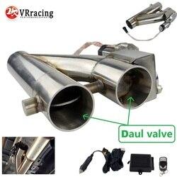 """Vr universal stal nierdzewna 304 2.5 """"lub 3"""" elektryczny układ wydechowy Downpipe Cutout e cut Out podwójny zawór zdalne sterowanie bezprzewodowe VR EMP86/87 w Tłumiki od Samochody i motocykle na"""