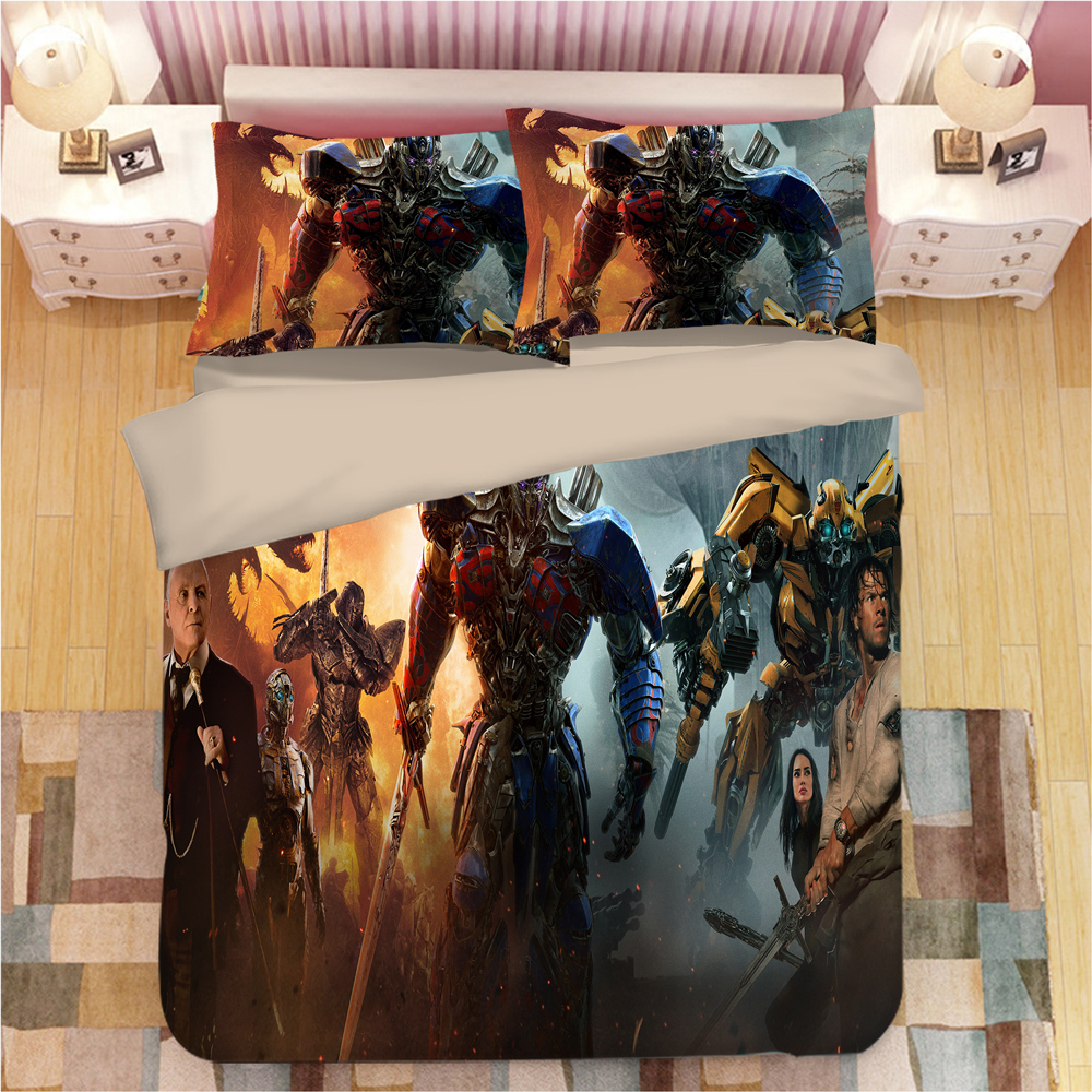Optimus Prime Bedding Set Duvet Covers Pillowcases Bumblebee Autobots Comforter Bedclothes Bed Linen Transformation bed set